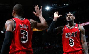 Dwyane Wade e LeBron James negli 'anni ruggenti' di Miami