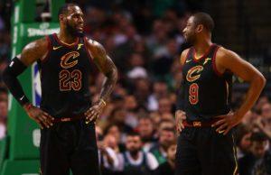 James e Wade con la maglia dei Cleveland Cavaliers