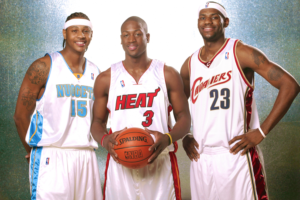Wade e James con Carmelo Anthony, le star del draft 2003